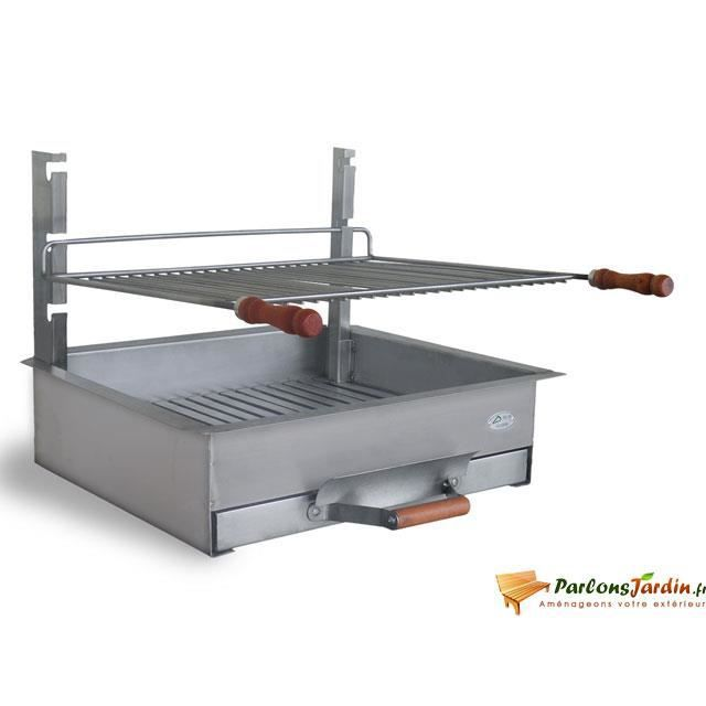 barbecue charbon de bois poser en inox b zieux achat vente barbecue barbecue charbon. Black Bedroom Furniture Sets. Home Design Ideas