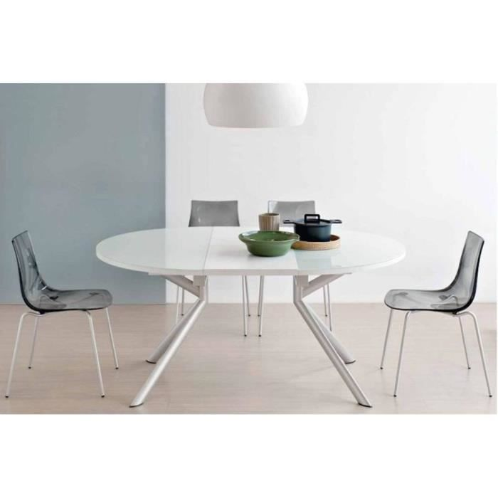 table de repas extensible ronde tulipe quattro 120cm en. Black Bedroom Furniture Sets. Home Design Ideas