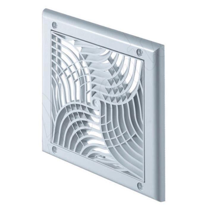 Couvercle de la grille de ventilation 130x130mm murale tirette net diam/ètre volet 125mm