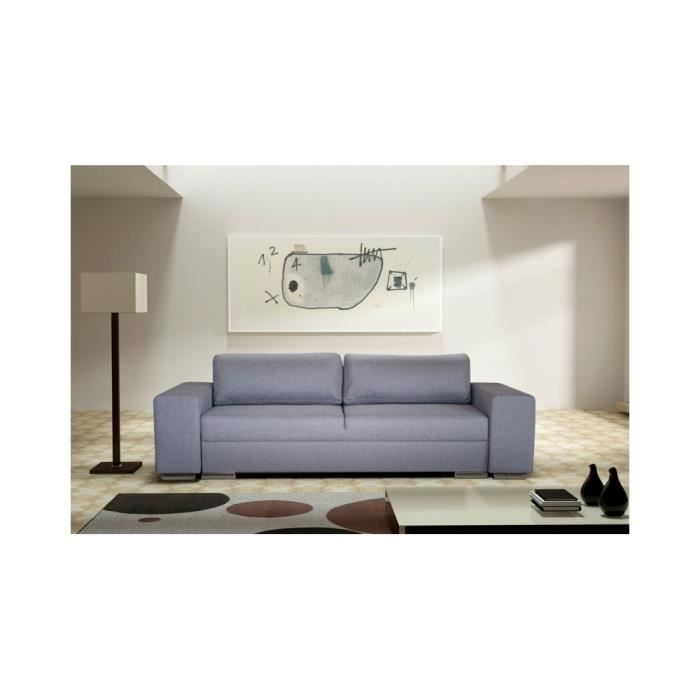 justhome flavio canap en cuir cologique gris l x p 255 100 cm achat vente canap sofa. Black Bedroom Furniture Sets. Home Design Ideas