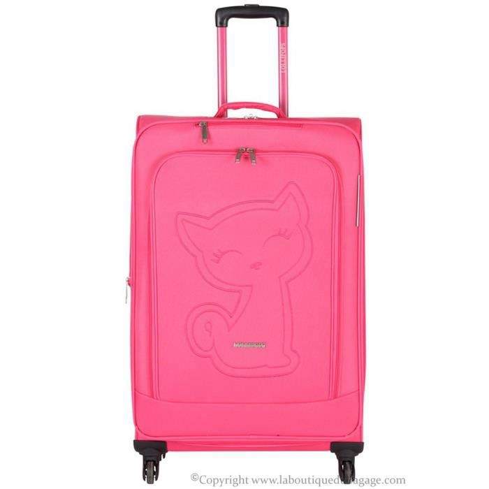 lollipops paris valise souple moyen s jour psf rose rose achat vente valise bagage. Black Bedroom Furniture Sets. Home Design Ideas