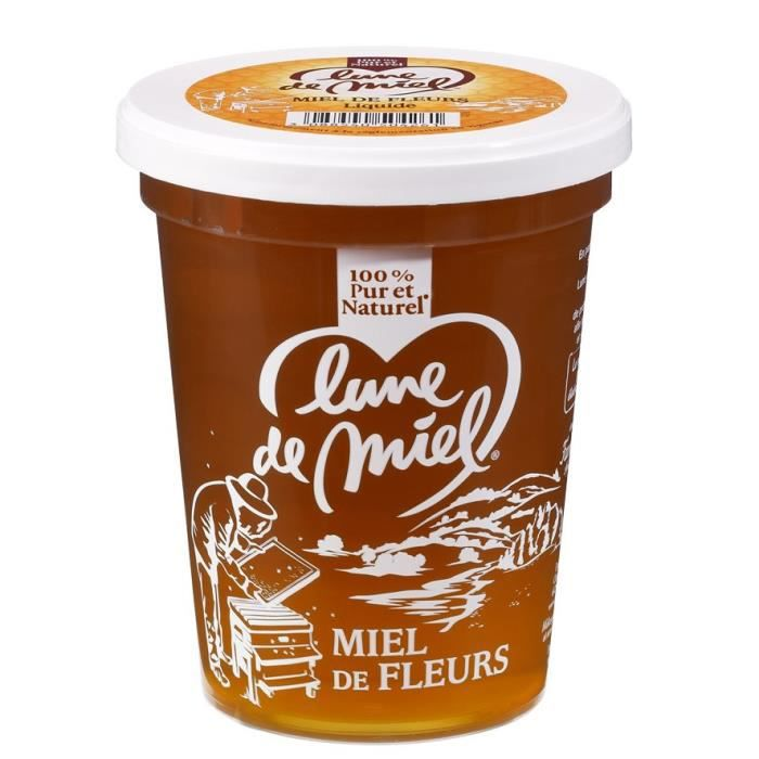 lune de miel miel de fleurs liquide 500 g achat vente miel ldm miel fleurs liq 500 g. Black Bedroom Furniture Sets. Home Design Ideas