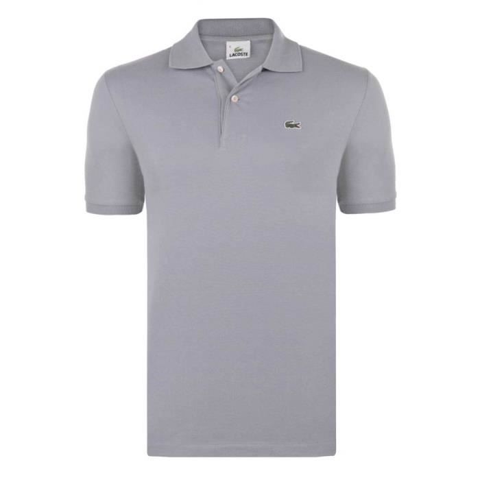 lacoste homme polo regular fit gris gris achat vente polo les soldes sur cdiscount. Black Bedroom Furniture Sets. Home Design Ideas
