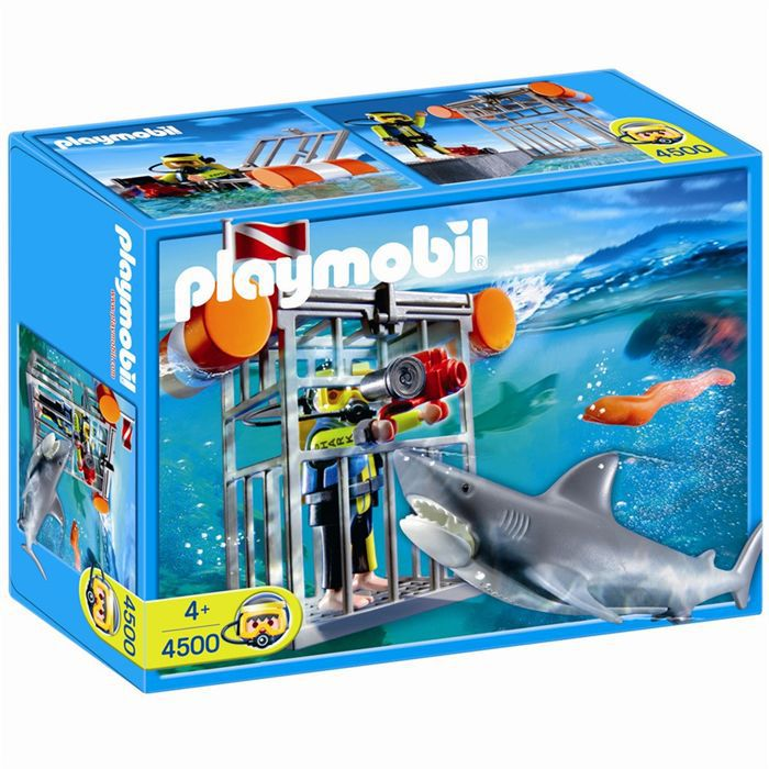 playmobil plongeur avec requin achat vente univers miniature cdiscount. Black Bedroom Furniture Sets. Home Design Ideas