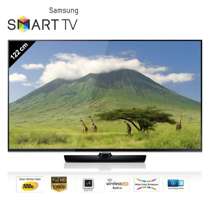 samsung ue48h5500 smart tv 122 cm t l viseur led prix pas cher soldes d t cdiscount. Black Bedroom Furniture Sets. Home Design Ideas