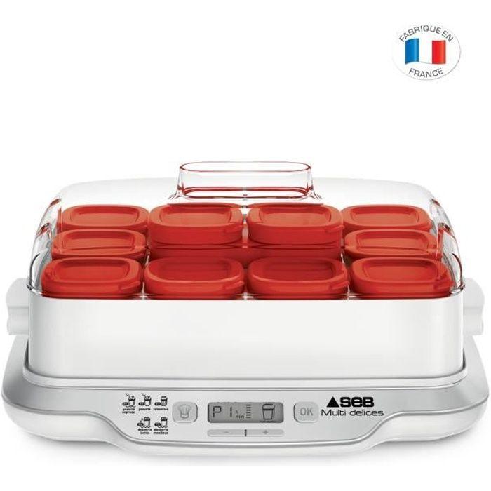 Seb Yg661500 Yaourtière Multidélices Express 5 Modes 12 Pots 4 6 Personnes Blanc Et Rouge Cdiscount Electromenager