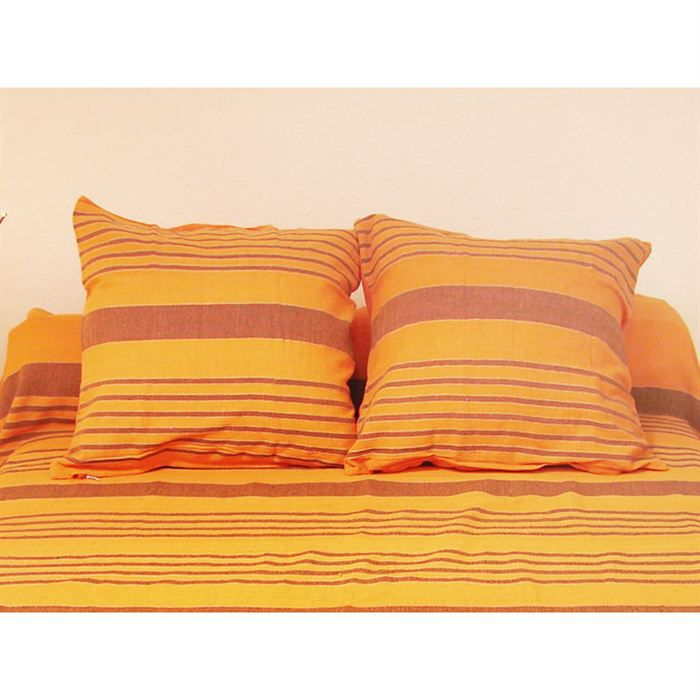housse de coussin 40x40 cm olympe orange achat vente. Black Bedroom Furniture Sets. Home Design Ideas