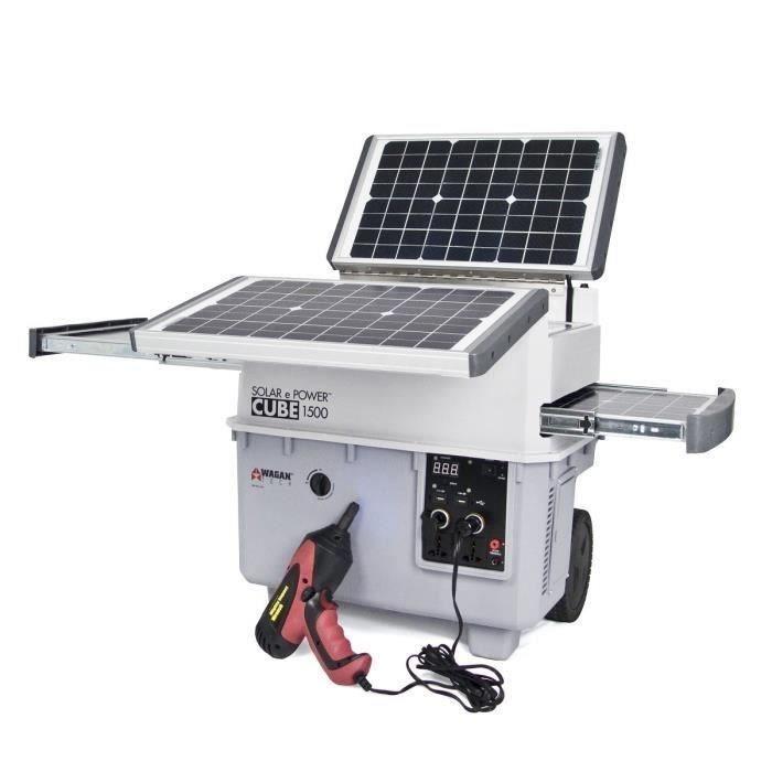 Wagan Tech Groupe électrogène Inverter à énergie Solaire 1500w