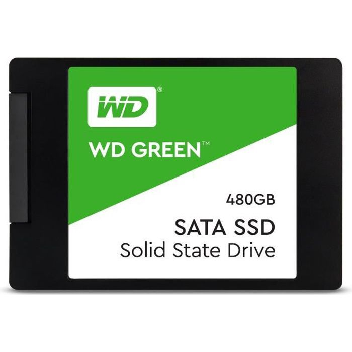 """DISQUE DUR SSD WESTERN DIGITAL SSD WD Green WDS480G2G0A - 2.5"""" In"""