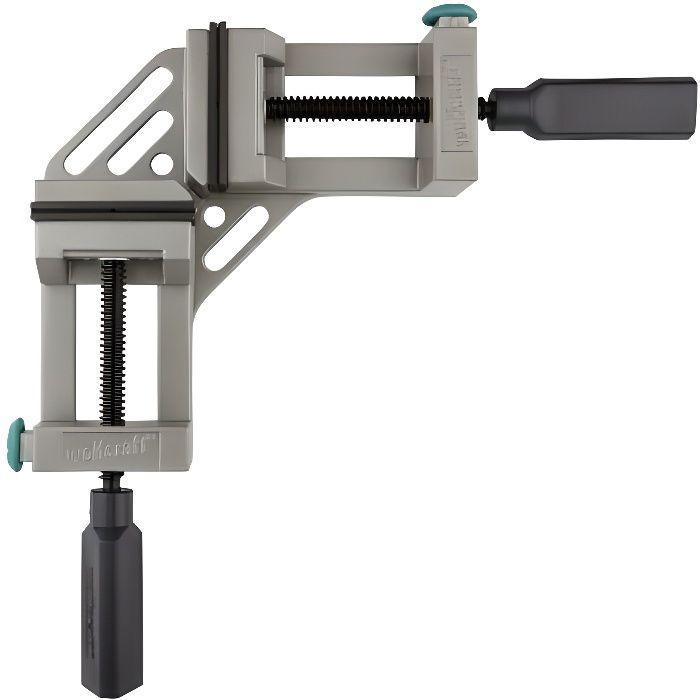 Wolfcraft 3415000 Étau d/'angle pour établi Ouverture jusqu/'à 65 mm