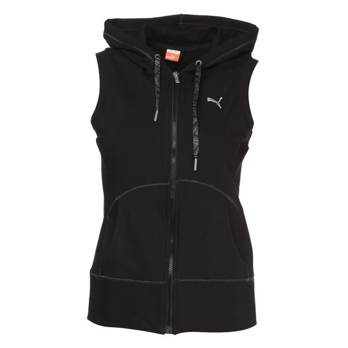 puma veste zipp e sans manches femme noir achat vente veste de sport cdiscount. Black Bedroom Furniture Sets. Home Design Ideas