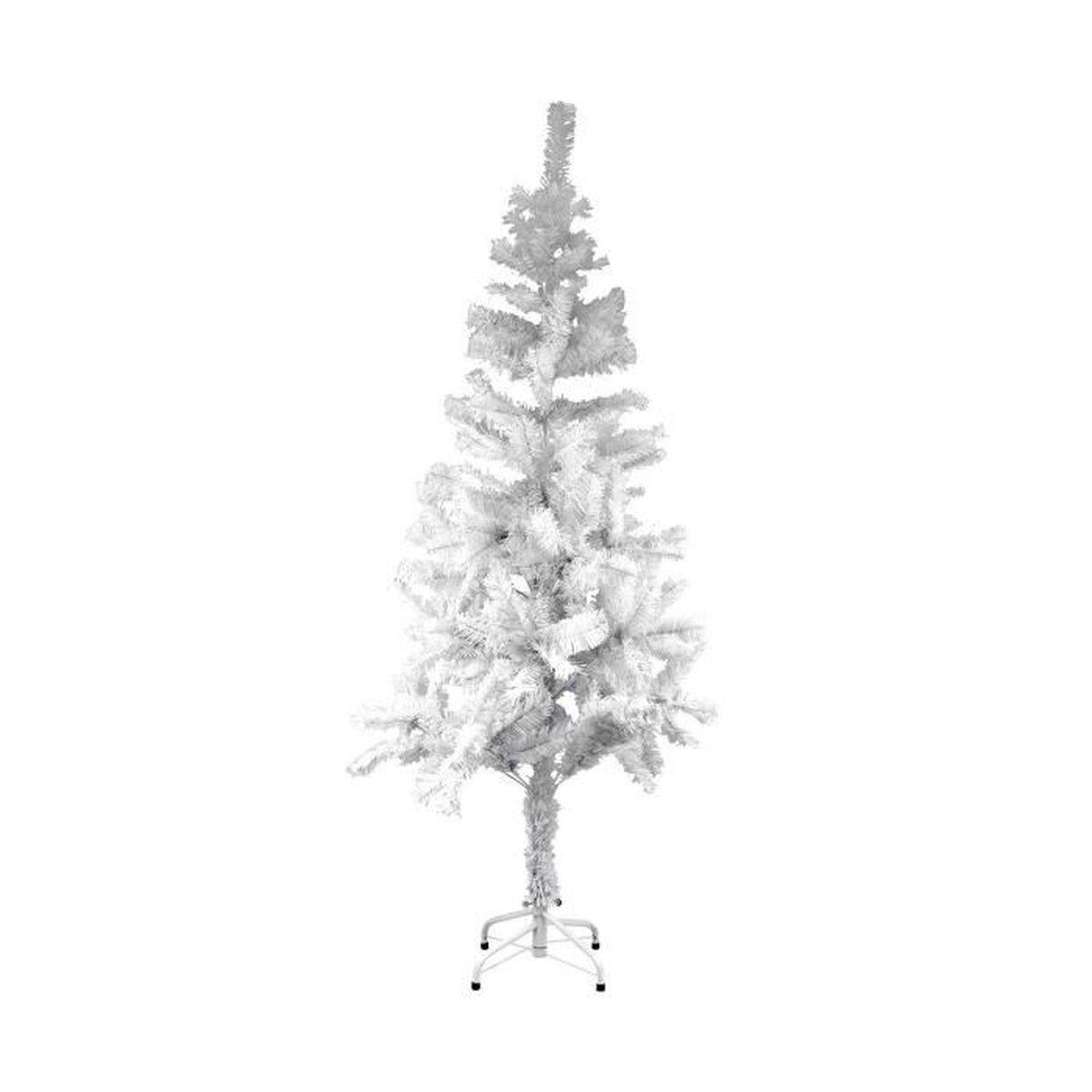 Sapin De Noel Decoration Traditionnelle décoration traditionnelle d'arbre de noël sapin de noël artificiel, blanc-  150cm, 250 conseils