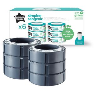 TOMMEE TIPPEE Recharges SIMPLEE Multipack x6 Sangenic