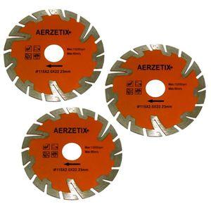 DISQUE DIAMANT COUPE A EAU CONTINU POUR MEULEUSE DANGLE TRONCONNEUSE 180//22,2mm AERZETIX