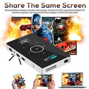 Vidéoprojecteur Portable Smart Mini projecteur 4K support 1080P HD