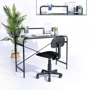 BUREAU  Bureau d'ordinateur noir simple et élégant