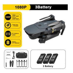 DRONE E58 WIFI FPV RC Drone +3 Batterie - Wi-Fi RC - 72