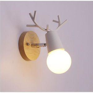 APPLIQUE EXTÉRIEURE  1 pcs Creative Antler Chevet Lampe Simple Escalie