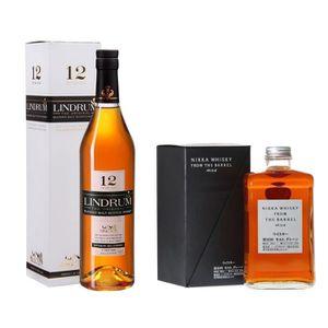 WHISKY BOURBON SCOTCH Coffret Découverte Whisky - Lindrum et Nikka 70 cl