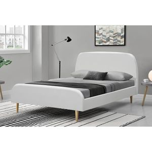 cadre de lit blanc 160x200 achat vente cadre de lit. Black Bedroom Furniture Sets. Home Design Ideas