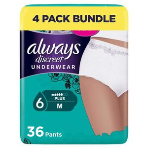 FUITES URINAIRES Always Discreet Plus Lot de 36 culottes d'incontin
