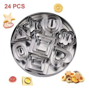 EMPORTE-PIÈCE  Emporte-pièces Patisserie 24pcs Rond Rectangle Coe