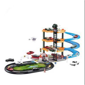 UNIVERS MINIATURE Circuit de Voiture Garage Educatif 4 voitures + 1