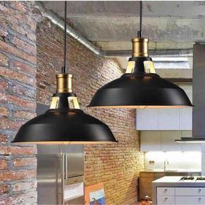 LUSTRE ET SUSPENSION 2pcs Rétro Lustre Suspension E27 27cm Luminaire St