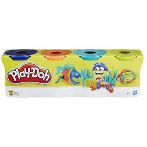 JEU DE PÂTE À MODELER PLAY-DOH 4 Pots Couleurs Tropicales - Bleu, orange