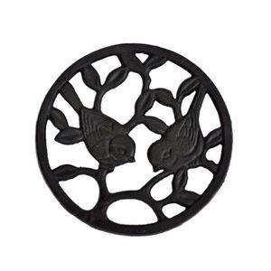 DESSOUS DE PLAT  Dessous De Plat Fonte Oiseaux 17cm