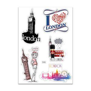 STICKERS Planche A4 de stickers London autocollant adhésif