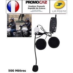 INTERCOM MOTO Kit Bluetooth casque Moto Mains-libres Stéréo FM (