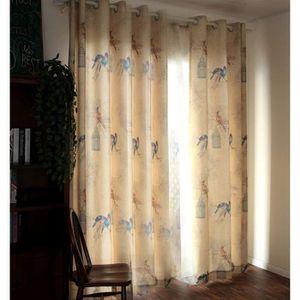 Chambre Enfants Modèle de Rideau en Lin Rideaux de Fenêtre de Salon 2  pièces des Oiseaux 140x215cm#4230