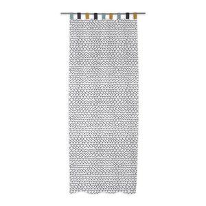 RIDEAU TODAY Rideau 100% Coton 140x240 cm - Blanc et noir