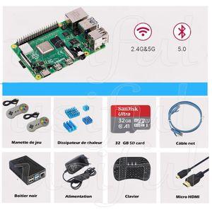 CARTE MÈRE Raspberry Pi 4 Modèle B (4 B) 4Go Starter Kit et M
