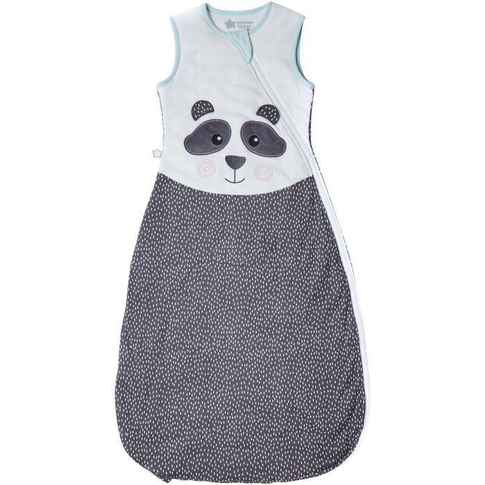 TOMMEE TIPPEE Gigoteuse - 6 à 18 mois - Tissu Léger printemps été - Pieds dedans - Motif Pippo le Panda