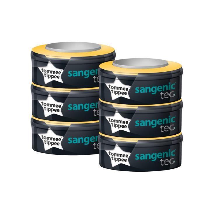 TOMMEE TIPEE Lot de 6 recharges Multipack Sangenic TEC - Bébé mixte