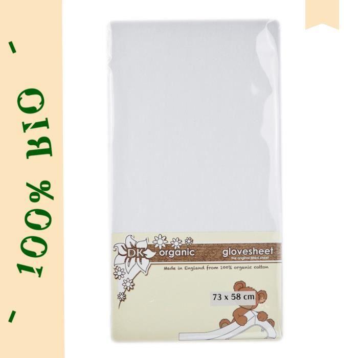 BIO Drap-Housse Lit Stokke Sleepi Mini 73 x 58 cm 100 % Coton Organique Spécialement Conçu Pour Son Matelas Ovale - Blanc