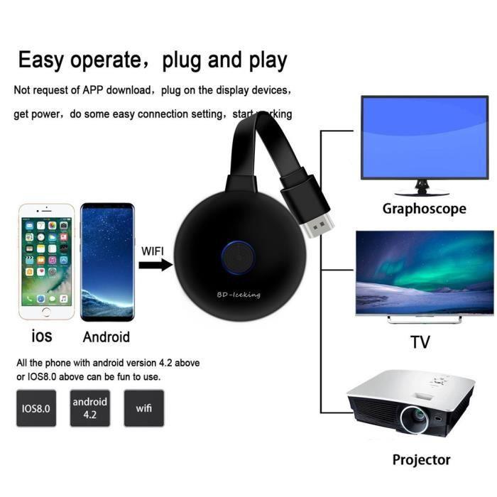 Récepteur de télévision sans fil WiFi Dongle HD 1080P avec écran miroir HDMI 1080P_1