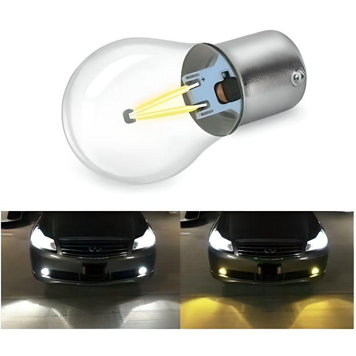 Ampoule P21W LED BA15S COB BLANC 6000K pour Feux Veilleuse Auto moto