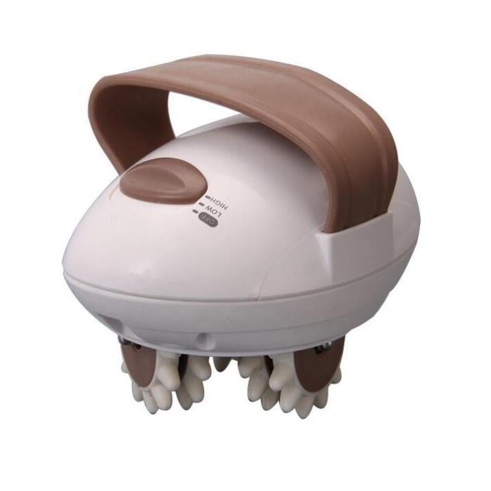 Appareil de Massage Anti-cellulite 3D Mini Corps complet Rouleau Masseur Electrique Portable Prise EU Blanc