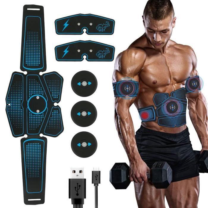 Ensemble complet EMS stimulateur musculaire sans fil formateur Fitness intelligent formation abdo - Modèle: full set - HSJSZHA03894