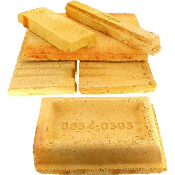 Jeu de briques refractaires pour Cuisiniere bois charbon De Dietrich - 3665392000501