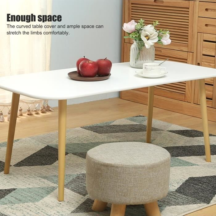 Petite table basse rectangulaire blanche simple -BOT