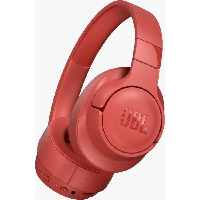JBL Tune750BTNC Corail - Casque supra-aural sans fil à réduction de bruit