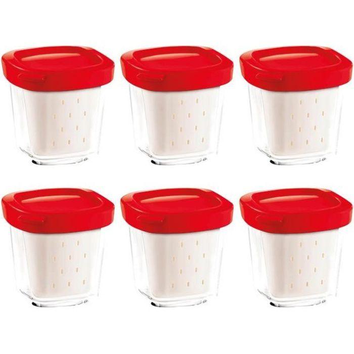 SEB 6 Pots de Yaourt - Yaourtières Multi délices - XF100501