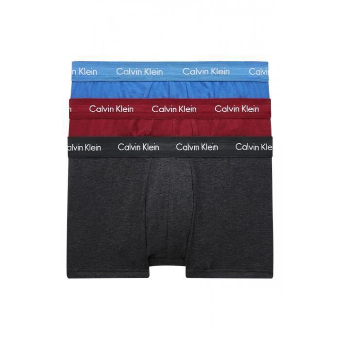 Pack de 3 boxers LOW RISE Rouge/multicolor