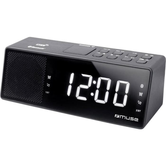 , radio-réveil, ondes ultra courtes (FM), noir
