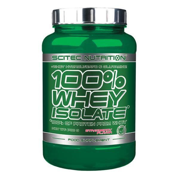 100% Whey Isolate 700 gr FRAISE Scitec Proteine