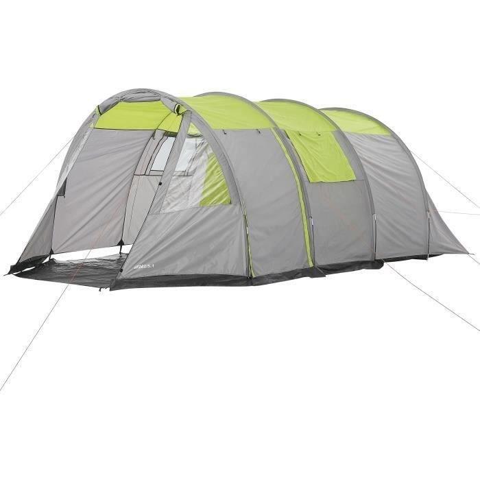 Tente de camping tunnel 5 places SURPASS SURPTENT501 Vert et Gris
